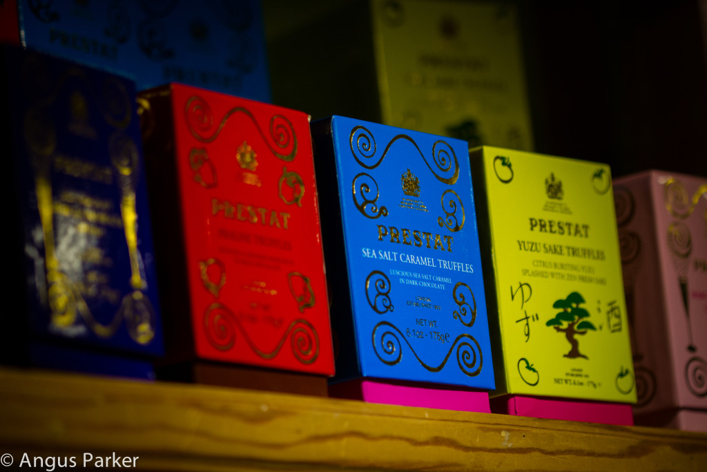 Prestat looking beautifully colourful on the Wicked Chocolate shelves