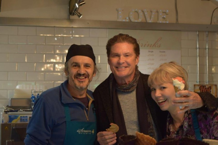 A visit from the Hoff!