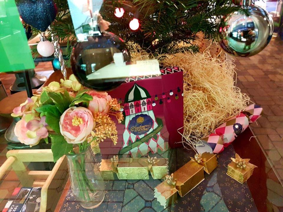 Our Christmas decorations - make sure you vote in the Oxford Covered Market's Christmas Window Competition to be in with a chance of winning £100 worth of vouchers to spend in the Market! See our 'Posts' section for details.